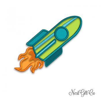 Machine Embroidey Rocket Digital file - Rocket design Applique digital downloading file
